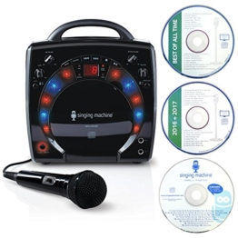 Singing Machine SML-283 Portable CD-G Karaoke Player and 3 CDGs Party Pack - Black - 1