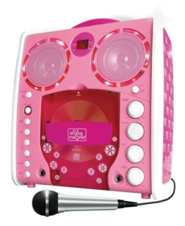 Singing Machine SML-383 Portable CD-G Karaoke Player and 3 CDGs Party Pack - Pink - 1