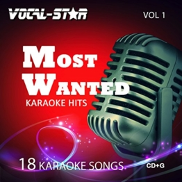 Vocal-Star Most Wanted Vol 1 Karaoke CDG CD+G Disc Set - 18 Songs Including Adele Abba Coldplay Ed Sheeran Katy Perry Little Mix Madonna U2 Prince - 1