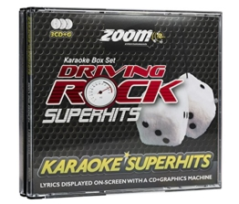 Zoom Karaoke CD+G - Driving Rock Superhits - Triple CD+G Karaoke Pack - 1