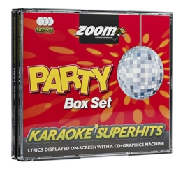 Zoom Karaoke CD+G - Party Superhits - Triple CD+G Karaoke Pack - 1